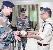 GOC 101 Area meets Chief Secretary, DGP