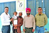 Amandeep Hospital adopts cleft child for her education