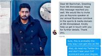 IIM-A student sends invitation to Abhishek Bachchan's parody account thinking it's him