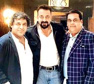 Spotted: Sanjay Dutt with makers of his next 'Torbaaz' in New Delhi
