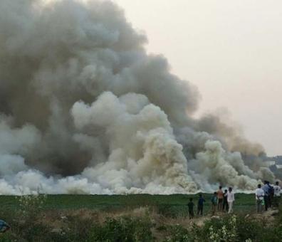 Bengaluru's Bellandur lake catches fire, thick smoke engulfs the area