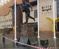 Wolves legend Billy Wright's statue smashed in car crash