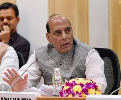 Rajnath reviews security in J&K