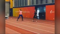 'What's up now?' Valerie Adams' explosive backwards sprint race win