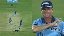 IPL 2018: Watch- After Ishan Kishan, now Hardik Pandya almost injures the Umpire