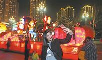 Coloured lights add Festive Atmosphere to Nanbin Road