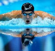 Phelps vies in fifth Olympics in pet event