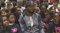 Jaws drop as Raptors player DeMarre Carroll surprises youth in Rexdale