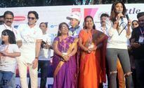 Shilpa Shetty flags off the Little Hearts Marathon