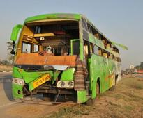 48 hurt as speeding truck rams into bus on Mohali airport road