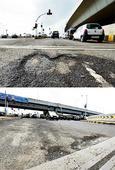 2-yr-old SCLR falls prey to potholes