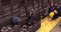 Dramatic Video Shows Hero Rescuing Fallen Man On Subway Tracks