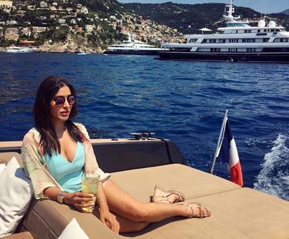 Sophie Choudry's breezy Monaco holiday