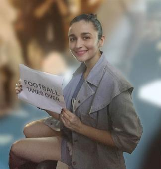 Alia Bhatt lends her support to Indian football