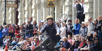 Penny Farthing rider's crash at Oamaru's Victorian Heritage Celebrations
