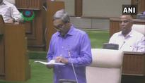 Manohar Parrikar, out of hospital, presents state budget in assembly