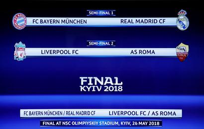 Champions League semis: Bayern to face Real, Liverpool to take on Roma