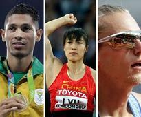 IAAF World Athletics Championships 2017: Wayde van Niekerk, Nijel Amos, Evan Jager in action on Day 5