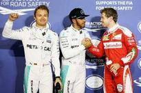 Hamilton edges Rosberg to take Bahrain GP pole position