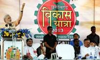 Modi takes dig at Manmohan, Rahul at Chhattisgarh CM's Vikas Yatra