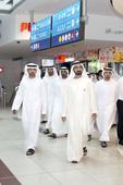 Sheikh Mohammed bin Rashid and Sheikh Hamdan visit Dubai International Airport - in pictures