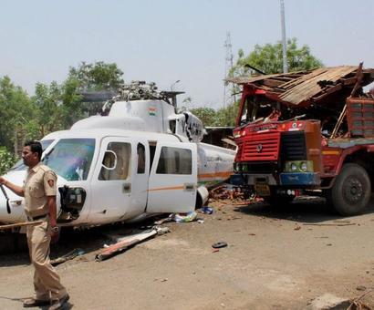 Fadnavis escapes unhurt after his chopper crash-lands in Latur