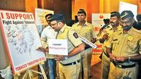 Cops felicitated on No Tobaco Day