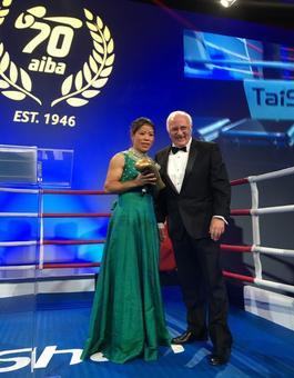 AIBA honours Mary Kom, Vikas Krishnan