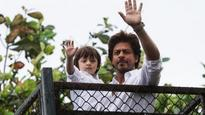 Check pics: Here's what happened when Shah Rukh Khan and AbRam came out to greet fans this Eid!