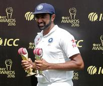 R. Ashwin receives Sir Garfield Sobers Trophy