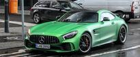 2017 Mercedes-AMG GT R Spotted Flaunting Its AMG Green Hell Magno Hue in Berlin
