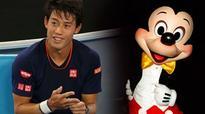 Oh boy! Mickey Mouse is Kei Nishikori's dream selfie buddy