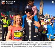 One-legged bombing survivor finishes Boston Marathon