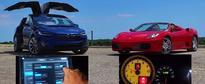 Electric vs. ICE Showdown: Tesla Model X Drag Races Ferrari F430 Spider