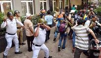 Bombs, arson and stone pelting during BJP's protest in Kolkata