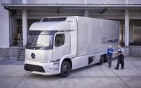 The all-electric and networked Mercedes-Benz Urban eTruck unveiled at the IAA show