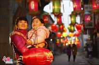 Spring Festival atmosphere in Zhoucun Old Town