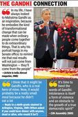 Mann ki baat: Obama admires the Mahatma