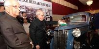 Prez unveiled Wanderer car used by Netaji Subhash Chandra Bose