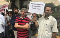 Kashmiri Pandits stage protest outside NIA office, demand action against Bitta Karate
