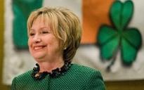 Hillary Clinton says she's ready 'to come out of the woods' in St Patrick's Day speech