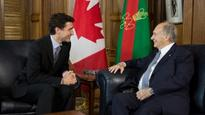 Prime Minister Justin Trudeau meets with his Highness the Aga Khan, 49th Hereditary Imam of the Shia Ismaili Muslims