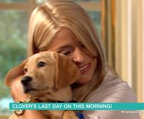 Holly Willoughby and Phillip Schofield bid farewell to This Morning's dog Clover
