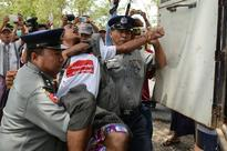 Myanmar Police Charge Workers Involved in Labor Rights Protest
