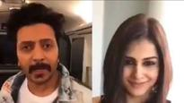 Valentine's Day| Riteish Deshmukh-Genelia D'Souza recreate Shah Rukh Khan-Kajol's scene in the most adorable way