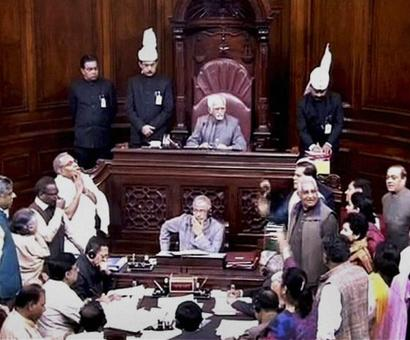 Combative Congress disrupts Parliament over National Herald case