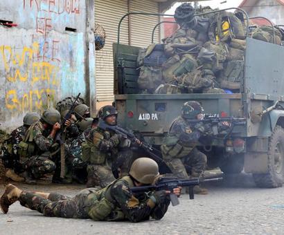 An army battles the Islamists...