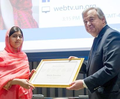 Malala named youngest UN Messenger of Peace