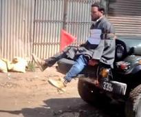 Kashmir human shield row : Army major who tied man to jeep honoured