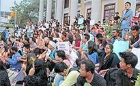 200 Bengaluru students protest attack on Arunachali student
